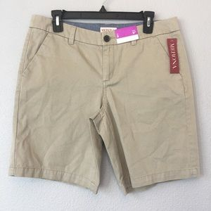 NWT Merona vintage khaki Bermuda shorts size 8